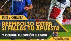 el forero jrvm y todos los bonos de deportes: betfair reembolso 25 euros PSG vs Chelsea 17 febre...