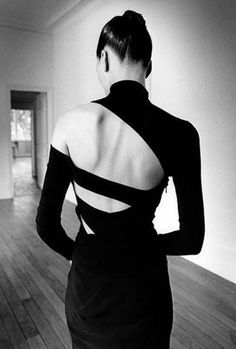 Dress by Martine Sitbon. Photograph by Jeanloup Sieff.