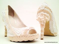 upcycled Women Shoes | ... for Women's Heels : lace covering for shoes,... - Dress Shoes - Home