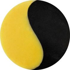 Handmade HADES YIN YANG-Shea Butter and Bentionite Clay Soap: Activated Charcoal, Peppermint Essential Oil, Turmeric, Recycled Packaging, 3 oz, Vegan
