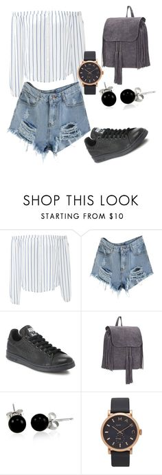 """""""Cute Jean Short"""" by lyna87 ❤ liked on Polyvore featuring J.O.A., adidas, Bling Jewelry, Marc Jacobs, men's fashion and menswear"""