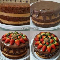 Naked cake de chocolate.  #nakedcake #bolopelado #instacake #bolo #bolodechocolate #tortadechocolate #homemade #cake #cakes #chocolate #chocolat #chocolatecake #dolce #dulce #doce #delish #delicia #torta #tasty #gourmet #bolocaseiro #brigadeiro #brigadeiros #bake #bakery #baking #gordice #nutella #parabens #tudodebom Bolos Naked Cake, Cupcakes, Dessert Recipes, Desserts, Cakes And More, Chocolate Cake, Great Recipes, Delish, Bakery