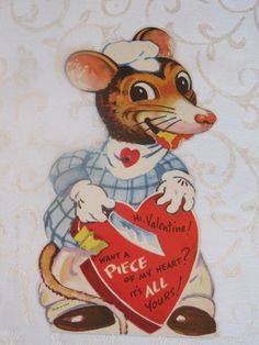 Mechanical Vintage Valentine, Mouse