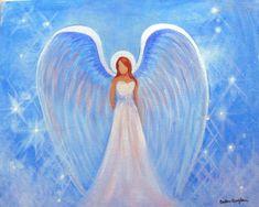 """Painting Spiritual Healing Angel  8""""x 10"""" by Breten Bryden, Intuitive Angel Artist at  BrydenArt.com"""