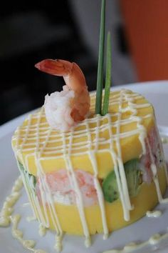 Yummy causa de camarones! Easy to make and delicious to eat :)