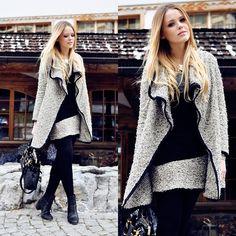 Fantastic Coat... great skirt/coat combo!     (by Kristina Bazan) http://lookbook.nu/look/3345941-CRANS-MONTANA