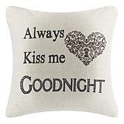 Good Night Cotton/Linen Decorative Pillow Cover