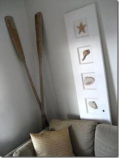 Dicas da Vila do Artesão - Portas antigas renovadas com detalhes de conchas aplicados na folha