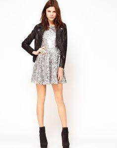 casual sequin dress