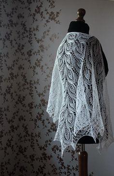 White Gail shawl