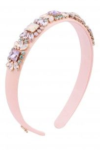 Pink Multicolored Crystals Embellished Headband #hairdramacompany #perniaspopupshop #accesories #new #shopnow #happyshopping