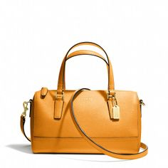 Kind of loving this, especially the color. Clasic shape, too. Coach  MINI SATCHEL IN SAFFIANO LEATHER