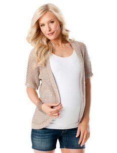 A Pea in the Pod: Short Sleeve Cascade Maternity Sweater