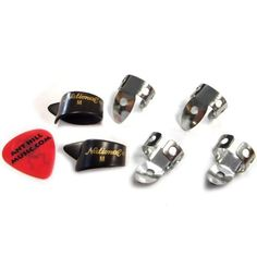 National Finger & Thumb Pick Set - 4 Finger & 2 Thumb - Black - Medium by National. $10.95. One of the most popular items at Ant Hill Music! These are really nice quality picks at a reasonable price from the name you know and trust.. NATIONAL.FeaturesIncludes 2 sets (6 picks total). (4) NP-1 Medium National Metal Finger Picks and (2) Medium NP-7 National Black Thumb Picks. Everything is Brand New! PLUS we will include a FREE Ant Hill Music flatpick! (color and thickness may var...