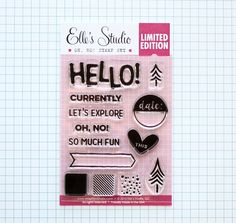 Oh, No! Stamp Set from Elle's Studio