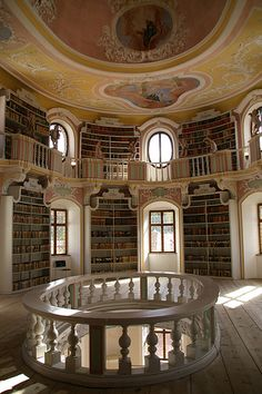 archivalia:    Old library in Füssen (von gerdragon) CC-BY-NC-ND- Library of the former OSB monastery St. Mang