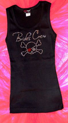 1 Bride's Crew rhinestone Tank Top Shirts. by uniqueandtrendy, $16.95