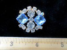 Exceptional Czech Rhinestone Jewel Glass Button Blues Crystal | eBay