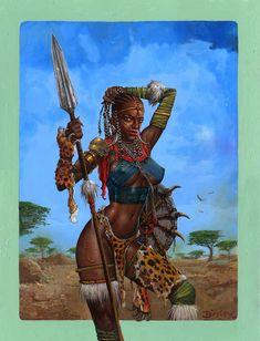 Simon Bisley Famous Women #10 Original Art - Candace Ethiopian ...