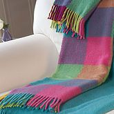 Candy Coloured Wool Throw