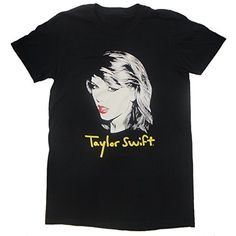 Taylor Swift Black 1989 World Tour Sketch Tee T-Shirt Small, Medium, Large (Large)