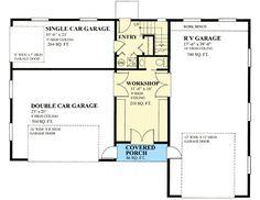 36x48 1-RV Garage -- #36X48G1E -- 1600 sq ft - Excellent Floor ...