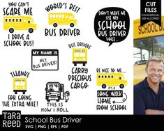 School Bus Driver SVG and Cut Files for Crafters Bus Driver Appreciation, Teacher Appreciation Week, Teacher Gifts, Bus Driver Gifts, School Bus Driver, School Buses, School Fun, Bus Humor, Tara Reed
