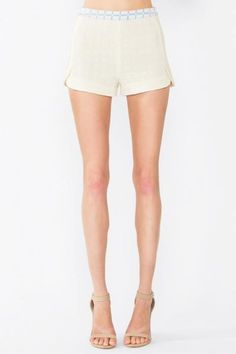 CLEAR GRID SHORTS - The Shop For Her