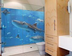 Fensterfolie - Sichtschutz Fenster Fish in the Sea - Fensterbilder
