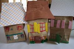 """Paper Bag House Craft - """"As for me and my house we will serve the Lord."""" Joshua 24:15"""