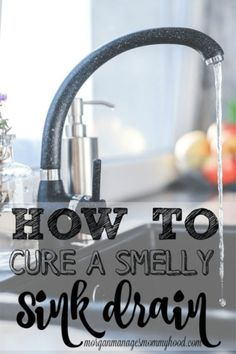 Is there a weird smell in your kitchen? It could be coming from your sink drain. A smelly sink drain is no big deal and a simple fix. Deep Cleaning Tips, House Cleaning Tips, Natural Cleaning Products, Spring Cleaning, Cleaning Hacks, Diy Products, Cleaning Solutions, All You Need Is, That Way