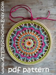 Crochet pattern EMBROIDERY RING by ATERGcrochet by ATERGcrochet $