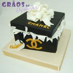Caixa Chanel - Grãos de Açúcar - Bolos decorados - Cake Design