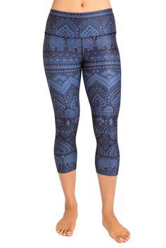 fb815c5add Inner Fire Sacred Elephant Capri Yoga Pants Yoga Capris, Workout Leggings,  Women's Leggings,