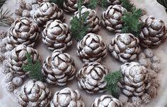 šišky_vánoční_cukroví_recept Sweet Recipes, Cake Recipes, Dessert Recipes, Desserts, Pie Tops, Czech Recipes, Christmas Candy, Artichoke, Afternoon Tea