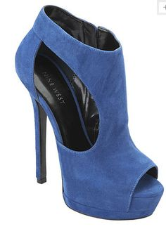 I love blue suede pumps and this is great proposition from Nine West fall 2013 collection.  Price $129.