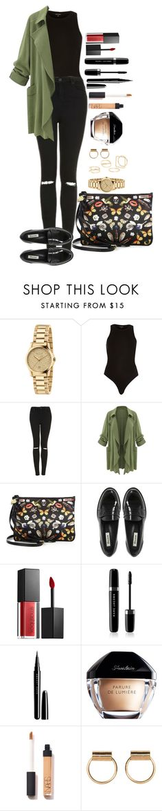 """Untitled #1547"" by fabianarveloc on Polyvore featuring Gucci, Topshop, Alexander McQueen, Dune, Smashbox, Marc Jacobs and MANGO"