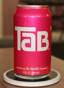 Tab. Tab soda...one of the first calorie free sodas... mum used to drink this xxx