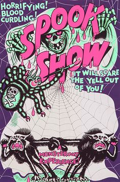 Spook Show advert from the 1950s   via Tumblr