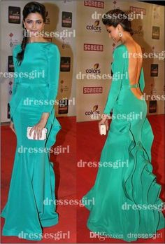$160 Wholesale Evening Dress - Buy Vestidos Formales 2014 Sexy Mermaid Prom Dresses Bateau Neck Back Long Sleeves With Belt Sash Ruffles Green Evening Gowns BO3089, $132.69   DHgate