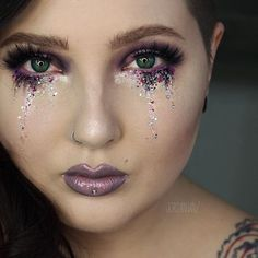 What if we could really shed glitter tears!? ✨ The amazing @jordanhanz created this look!!! NYX products used: Micro Brow Pencil in 'Ash Brown' and our Full Throttle Shadow Palette in 'Bossy' P.S. Reminder: The submission round for the NYX FACE Awards closes on 4/29! Get those entries in! For Official Rules, visit: bit.ly/NYXFACEAwards2016-rules || #nyxcosmetics #nyxfaceawards