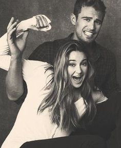 Shailene Woodley (Tris) and Theo James (Four). #Shailene_Woodley #Theo_James #Tris #Four #Divergent #Insurgent #Allegiant