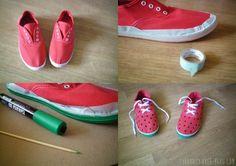 Watermelon Shoes DIY chaussures pastèque