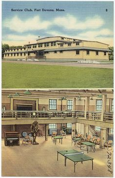 Service Club, Fort Devens, Mass. by Boston Public Library, via Flickr