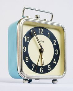 1950s Russian clock in Moscow Design Museum. How sweet would this look by your bed! Note to Bly, put Moscow on your list! via NYTimes.com