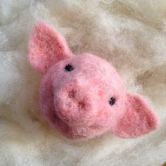 Pig, Hen, Barn Owl, Sheep, Border Collie dog wool ball ornaments - needle felted farm animals