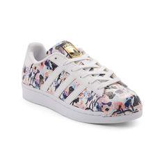 Tween adidas Superstar Floral Athletic Shoe