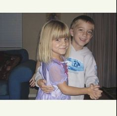 Daniel and his sis! OMG he was such a cutie!!
