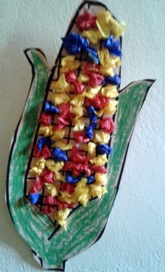 Indian corn, or maize, played a big role in the first Thanksgiving. Help your child learn more about maize and make an Indian corn craft decoration for your Thanksgiving table.