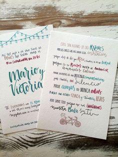 invitación, boda, tipografia